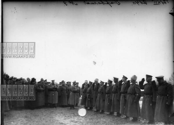 Wizytacja wojsk przez Cara Mikołaja II w okolicach Garwolina - 30 grudnia 1914