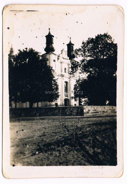 Górzno kościół parafialny, lata 50-te. Ze zbiorów Romana Talarka