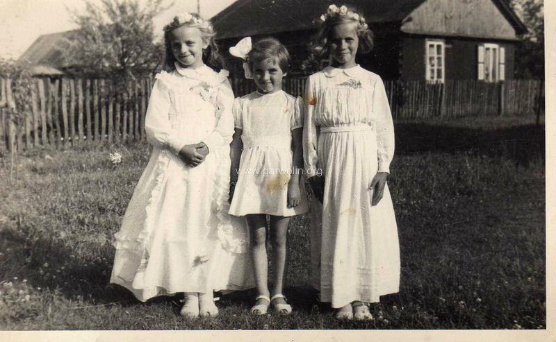 I komunia Święta rok 1960, Pilawa. Ze zbiorów Krzysztofa Gawrysia
