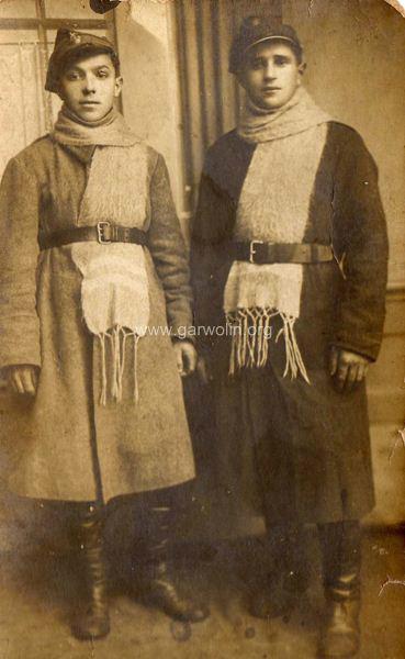 Jan Sokół i NN rok 1920, wojna polsko-bolszewicka Ze zbiorów Krzysztofa Gawrysia