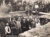 4. Odbudowa kościoła w Łaskarzewie po bombardowaniu. Zdjęcie udostępniła:Hanna Domarecka z rodziny Pobożych.
