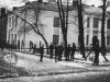 Budynek Liceum przy ul. Długiej w Garwolinie. 1948 rok.