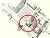 Garwolin, rynek i budynki użyteczności publicznej ( na planie zaznaczona lokalizacja projektowanego ratusza )