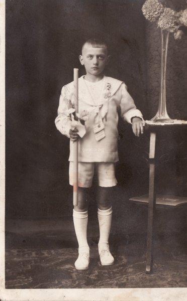 30. Ryszard Gontarski - I Komunia Święta, 1930 rok. Udostępnił Michał Gontarski
