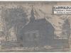 5. Pocztówka przedstawiająca kościół w Sobolewie z przed rozbudowy która miała miesce w latach 1916-1917.