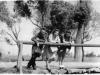Rok 1947. Unin. Od lewej - Tadeusz Zalewski (z Garwolina), Julia Domarecka, Genowefa Piesiewicz ( z Garwolina). Fotografie ze zbiorów E. Domareckiej