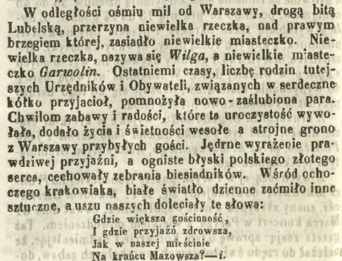 128. Tak się bawiono w Garwolinie w 1858 roku. Nawet przyśpiewka powstała, choć krótka...