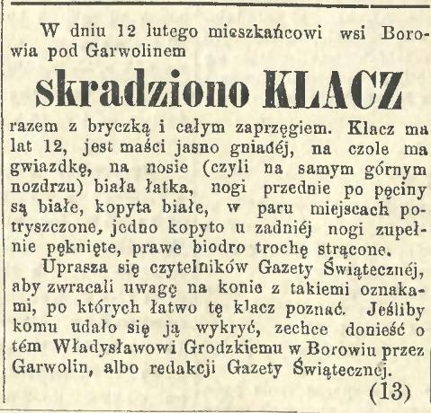 127. Gazeta Świąteczna nr 113 1883