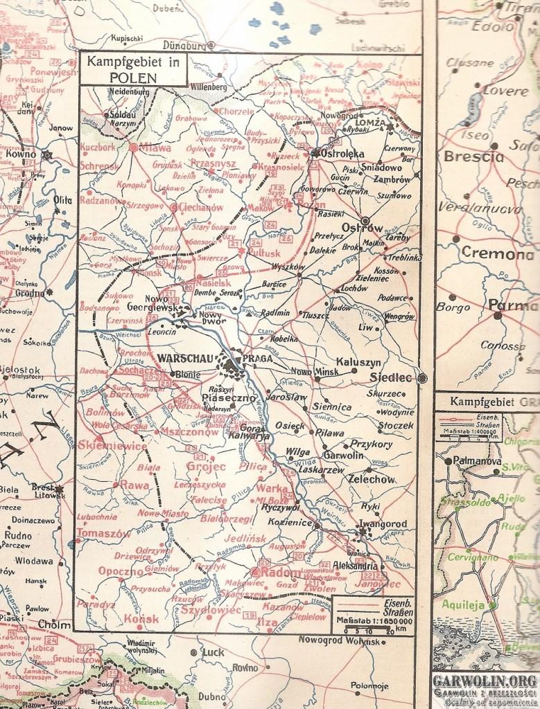 karta nr 42 sytuacja na froncie 19-26 lipca 1915 r (Kopiowanie)