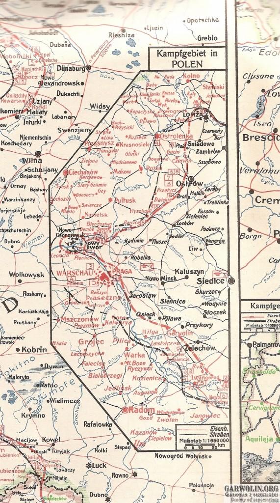 karta nr 44 sytuacja na froncie 2-9 sierpnia 1915 r. (Kopiowanie)