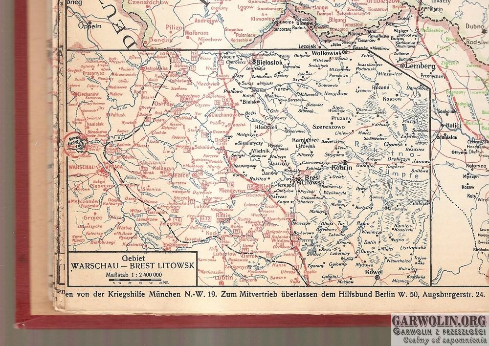 karta nr 45 sytuacja na froncie 9-16 sierpnia 1915 r. (Kopiowanie)