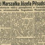 Tablica pamiątkowa ku czci Józefa Piłsudskiego w Garwolinie