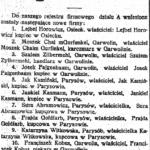 Spis przedsiębiorców powiatu garwolińskiego z roku 1917