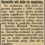 Przywilej Zygmunta Augusta dla Garwolina