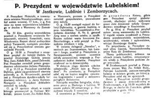 Mościcki w Lubelskiem 1927
