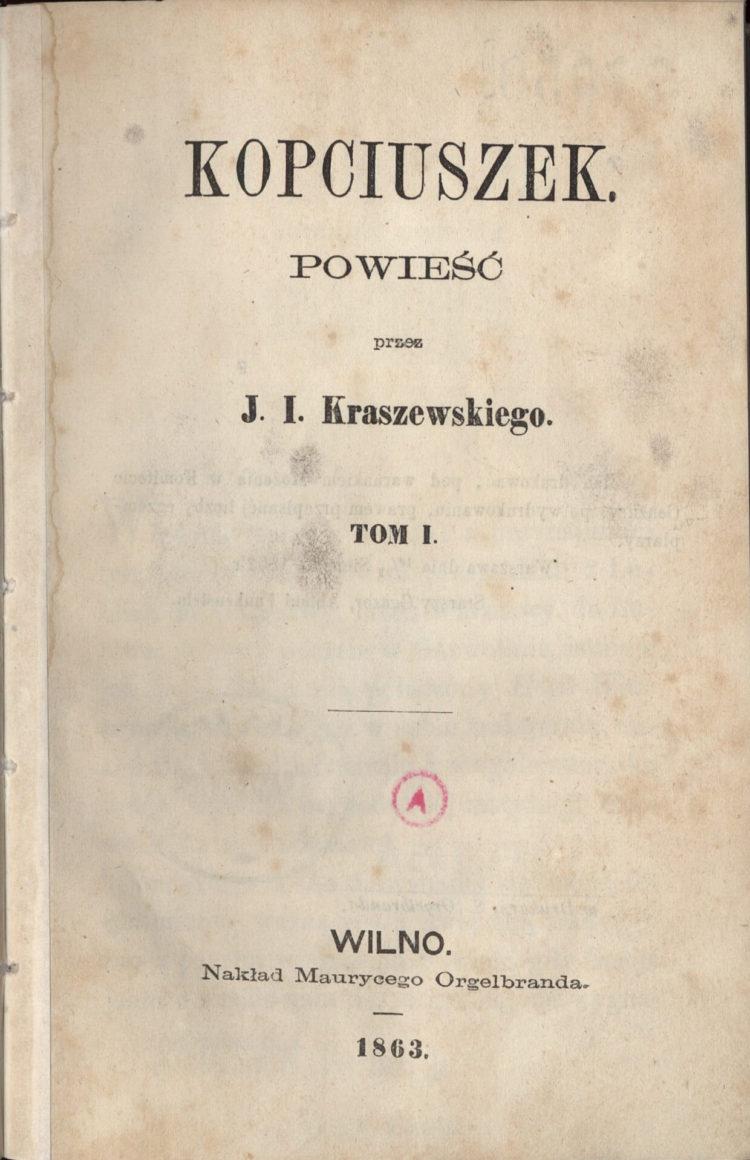 Kopciuszek Kraszewskiego