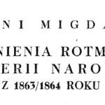 Antoni Migdalski - Wspomnienia rotmistrza kawalerii narodowej z 1863/1864 roku
