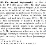 Ks. Antoni Nojszewski (1844-1921) - wikariusz w Garwolinie