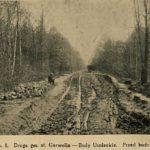 Budowa drogi do Bud Uśniackich