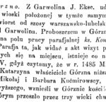 Garwolińska parafia w 1891 r.