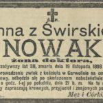 Anna ze Świrskich Nowak