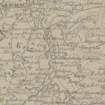 Gusin na mapie z 1816 r.