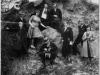 Nauczyciele z Miastkowa Józef Witak, Stefania Witak, Sasiomowski, Janina Kot. Nauczyciele z Miastkowa 1932 rok. Pierwszy z lewej leży Józef Witak z Rębkowa. Ze zbiorów p. Rękawek
