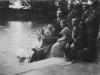 Nauczyciele z Miastkowa w parku w Siedlacach 1935r. Na zdjęciu Jan Witak. Ze zbiorów p. Rękawek