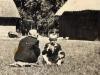 Marianna Kedziorek i Edward Kędziorek, I Komunia Święta, Trąbki, koniec lat 40. poczatek 50. Ze zbiorów Krzysztofa Gawrysia