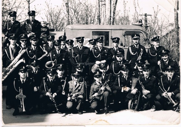 Orkiestra Dęta OSP Garwolin.Uroczystość poświęcenia sztandaru - 1972. Ze zbiorów rodziny Paziewskich