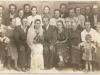 Rok około 1950- ślub Heleny i Józefa Zarzyckich- Unin od lewej od góry pierwszy rząd- Szarek Władysław, Szczegot Franciszek, Szubiński Marian, nieznana, Migas Władysław, Domarecka Feliksa, Zarzycki Stanisław, Sobiech Stanisław. od lewej drugi rząd- Grązka Regina (wtedy Płatek), Przybysz Marianna (wtedy Płatek), Górka Krystyna (wtedy Mikulska), nieznana. od lewej trzeci rząd- Brych Józef, Brych Marianna, Kot Antoni, para młoda, Kot Regina (wtedy Szczegot), matka panny młodej, Sobiech Helena, nieznana. dzieci- Tobiasz Halina (wtedy Brych), Sobiech Tadeusz. Udostępnił Jakub Pałysa