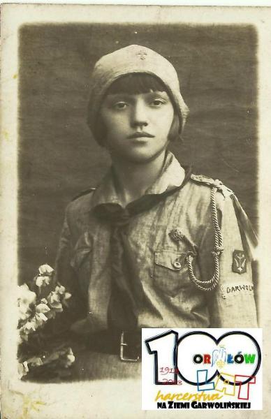 Garwolińska harcerka lata 30-te. Źródło ZHP Garwolin