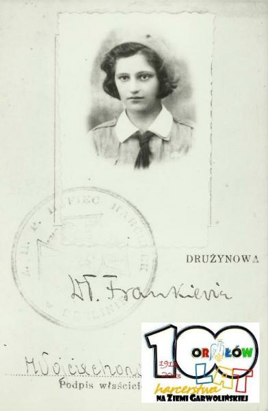 Harcerka z drużyn W.Frankiewicz lata 30-te. Źródło ZHP Garwolin