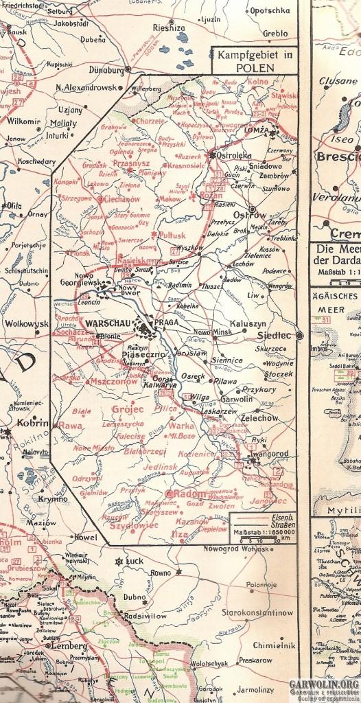 karta nr 43 sytuacja na froncie 26 lipca - 2 sierpnia 1915 r. (Kopiowanie)