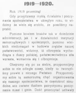 podsumowanie 1919