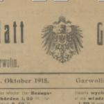 Niemiecka okupacja w latach 1915-1918