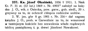 nagana dla ks. Oknińskiego