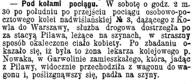 śmierć Anny Nowak