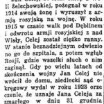 Jan Celej z Woli Żelechowskiej