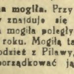 Mogiła powstańcza w pobliżu Gocławia