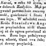 Michał Karaś (1761-1841) z Zadybia