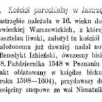 Dekanat garwoliński na początku XVII w. Cz. 3. Jastrzębie