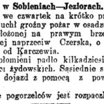 Pożar w Sobieniach -Jeziorach (1925)