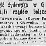 Żydzi w Garwolinie w sierpniu 1920 r.