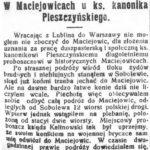 Z wizytą w Sobolewie i Maciejowicach (1918)