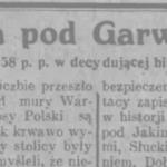 Wyzwolenie Garwolina w 1920 r.