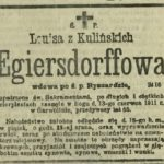 Louisa z Kulińskich Egiersdorffowa