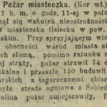 Pożar Osiecka w 1913 r.